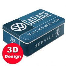 VW Garage Service - Embossed Storage Tin